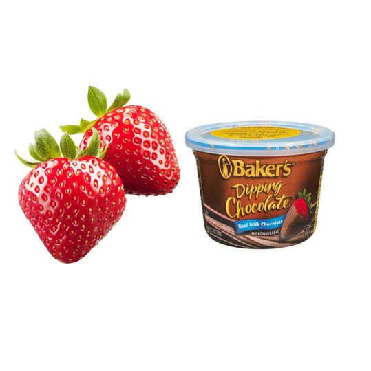 Strawberries and Dipping Chocolate Sauce