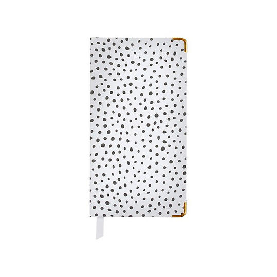Sugar Paper White Weekly Pocket Planner in Snow Leopard Print