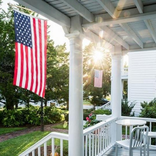 Our Best Instagrams american flag front porch