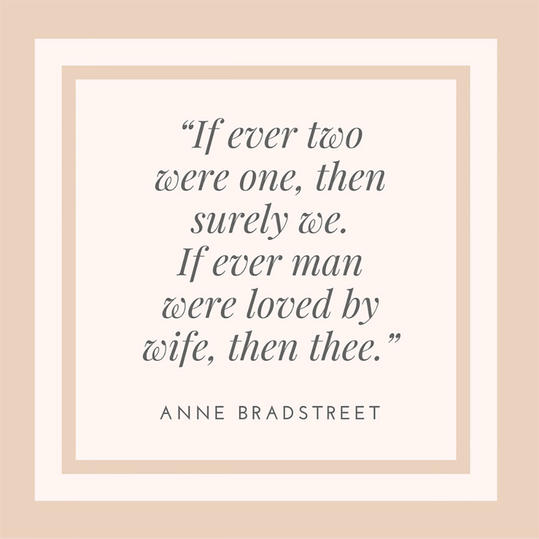Anne Bradstreet On Marriage