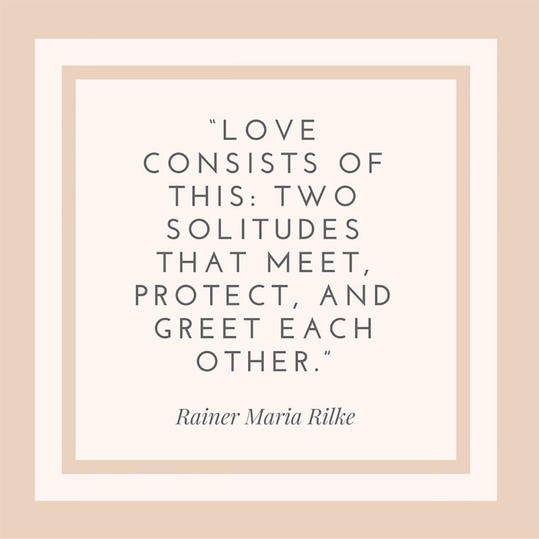 50 most popular quotes for wedding invitations southern living rainer maria rilke quote stopboris Choice Image