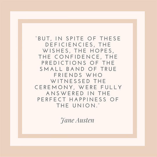 50 most popular quotes for wedding invitations southern living jane austen on the wedding day stopboris Image collections