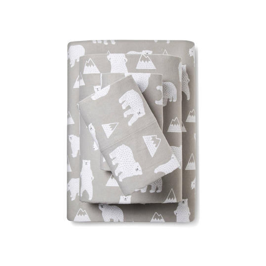 Polar Bear Flannel Sheets