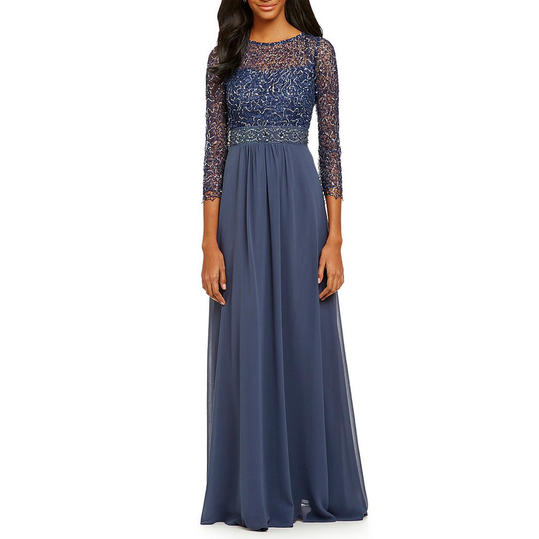 Decode 1.8 Bracelet Sleeve Beaded Gown