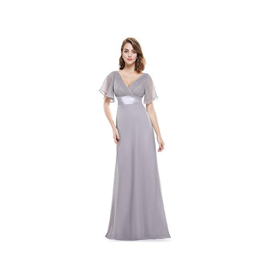 Ever Pretty Womens Short Sleeve V Neck Long Evening Dress