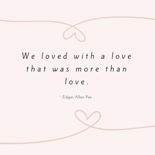 Edgar Allan Poe Love Quote