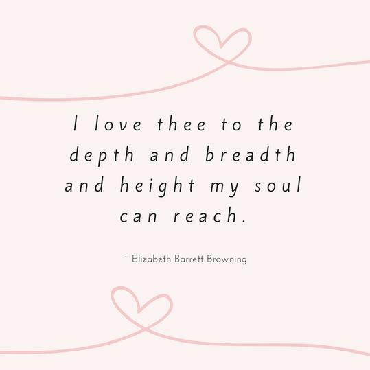 Elizabeth Barrett Browning Love Quote