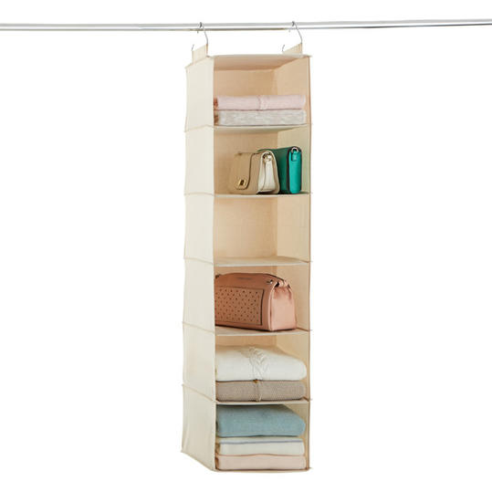 6-Compartment Canvas Hanging Sweater Organizer