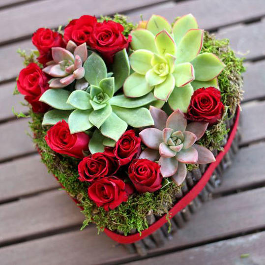 Heart-Shaped Flower Arrangement