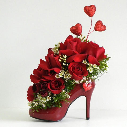 Floral Arrangement in Shoe