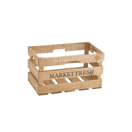 Medium Market Fresh Wood Storage Crate