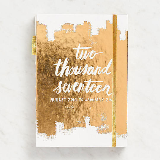 Gold Brush String Bound Planner