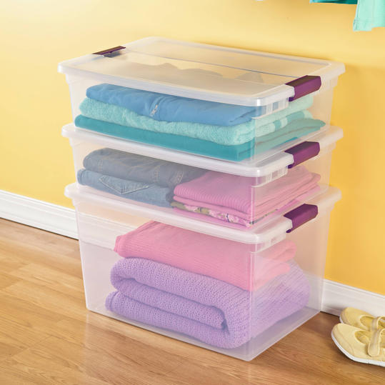 Sterilite ClearView Latch Storage Tote