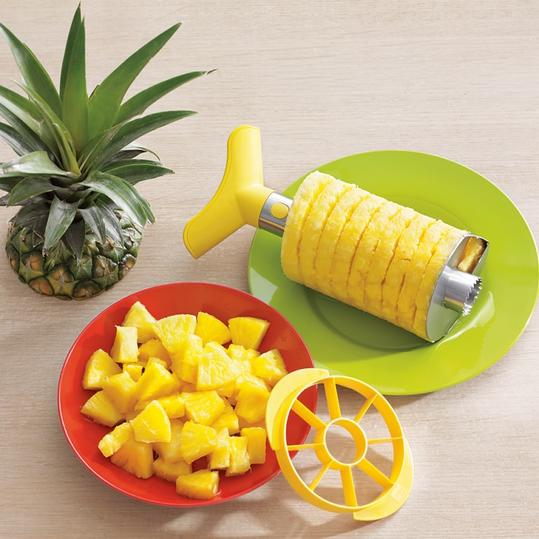 Kitchen Gadgets Stainless-Steel Pineapple Slicer and Dicer