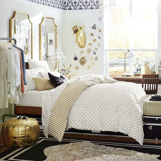 The Emily & Meritt Metallic Dottie Duvet Cover