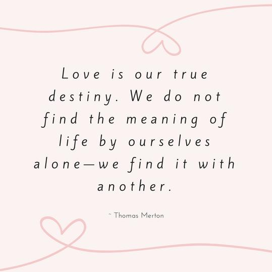Thomas Merton Love Quote