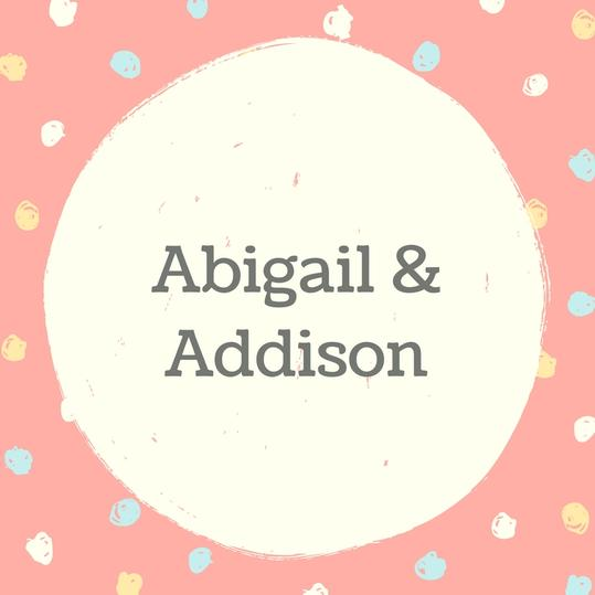 Twin Names: Abigail and Addison