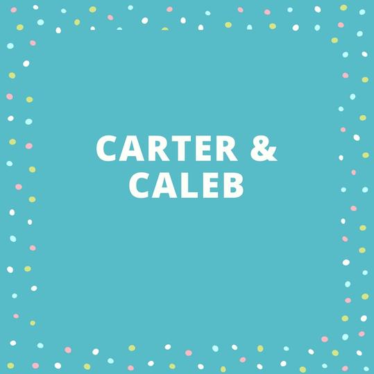 Twin Names: Carter and Caleb