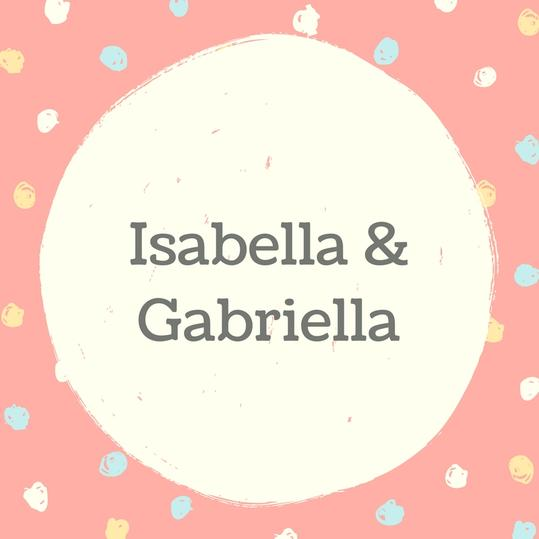 Twin Names: Isabella and Gabriella