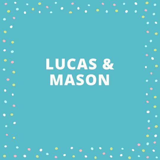Twin Names: Lucas and Mason