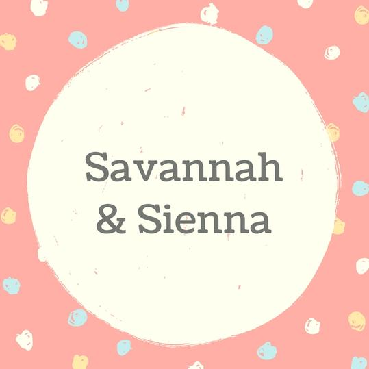 Twin Names: Savannah and Sienna