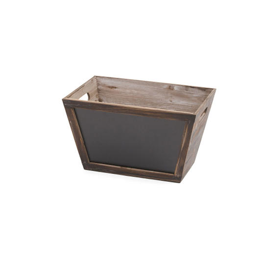 Medium Wood Chalkboard Bin