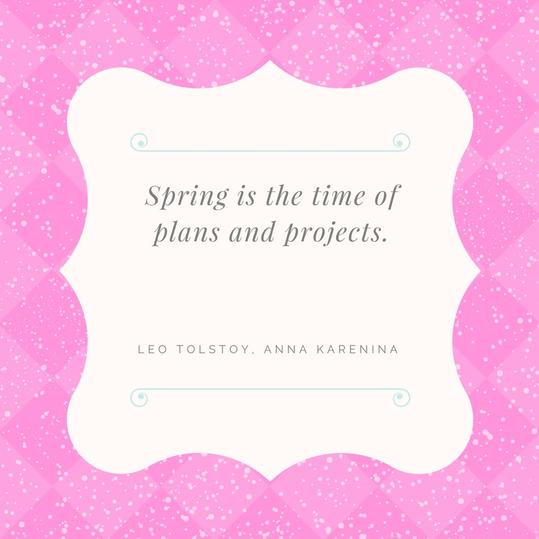 Spring Projects Quotes