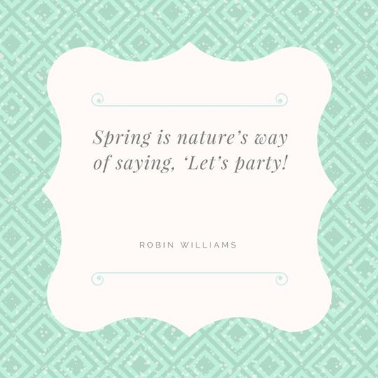 Nature Let's Party Quote