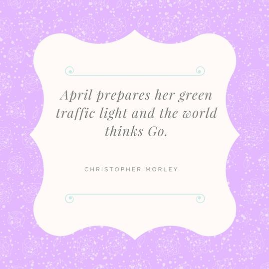 April Green Light Quote