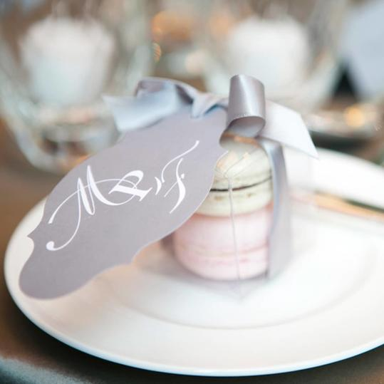 RX_1703_Edible Wedding Favor Ideas_Monogram Macaroons
