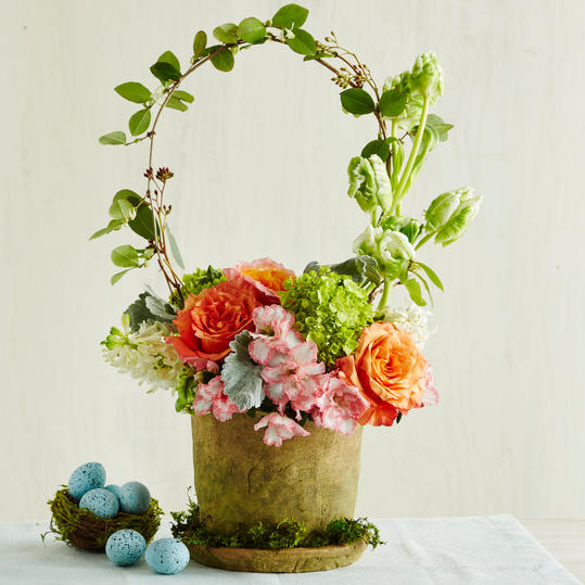 Easter Basket Flower Pot