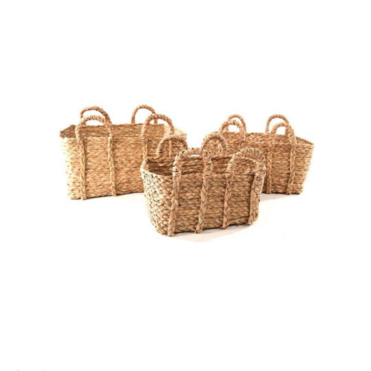 Baum Rectangular Braided Rush Basket