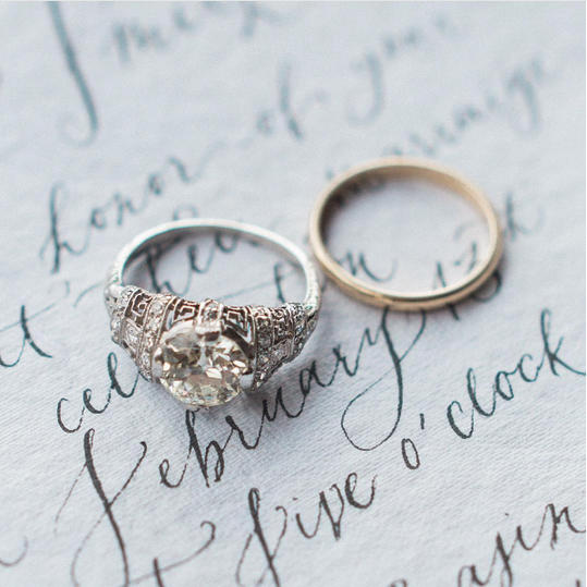 Breathtaking engagement rings from each decade southern living edwardian era engagement ring junglespirit Images