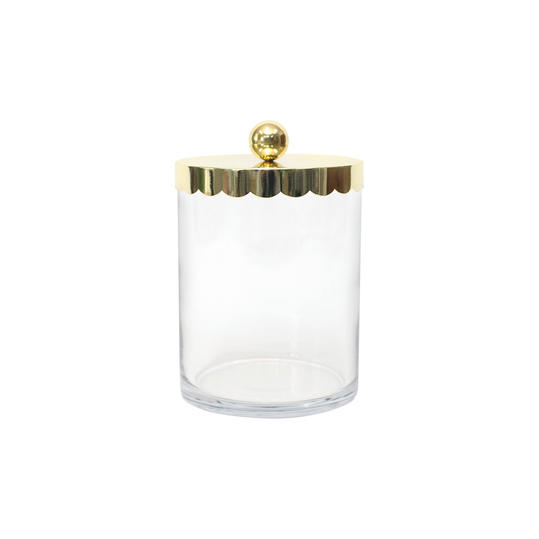 Gold Scalloped Candy Jar