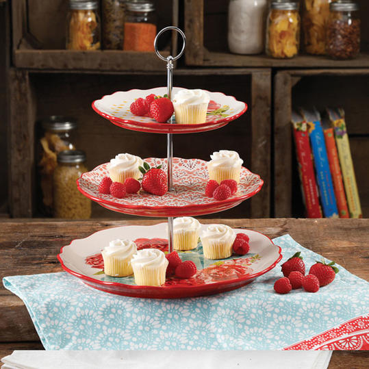 RX_1703_Ree Drummond Spring Line_Floral Tiered Serving Tray