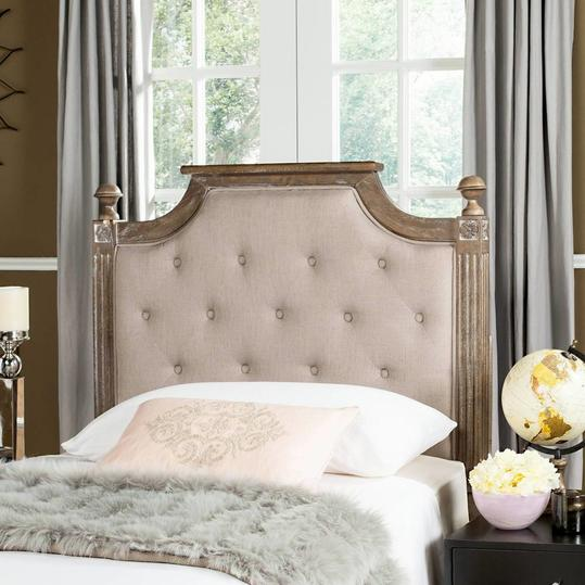 Rustic Wood Tufted Linen Headboard. Upholstered Headboards Under  300 That Will Transform Your Bedroom