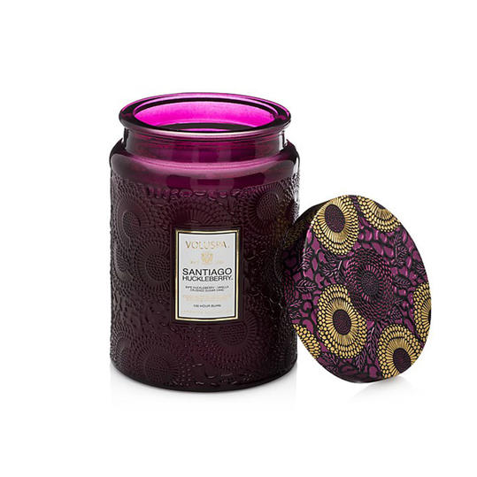 Voluspa 'Japonica - Santiago Huckleberry' Large Embossed Jar Candle