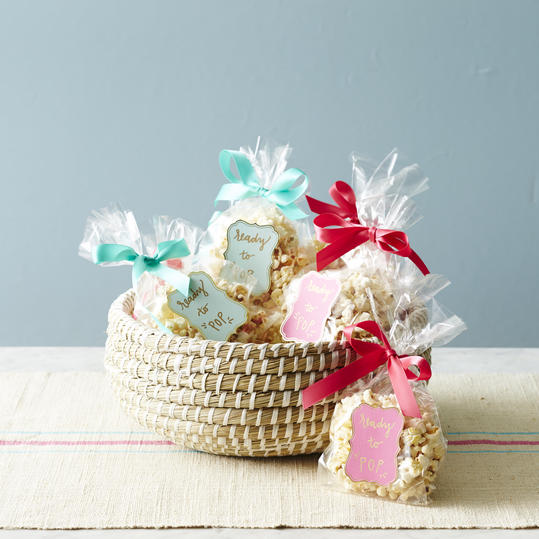 Unbelievably cute baby shower favors you can make yourself ready to pop popcorn bags solutioingenieria Choice Image