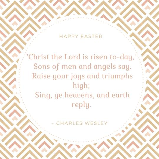 Charles Wesley Easter Quote