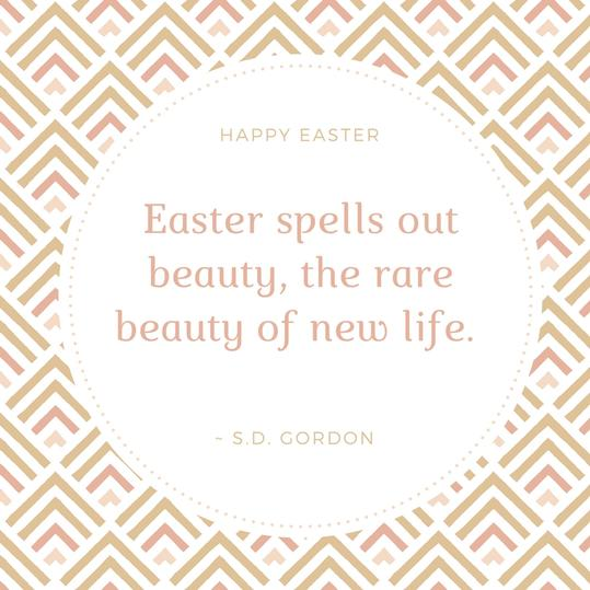 S.D. Gordon Easter Quote