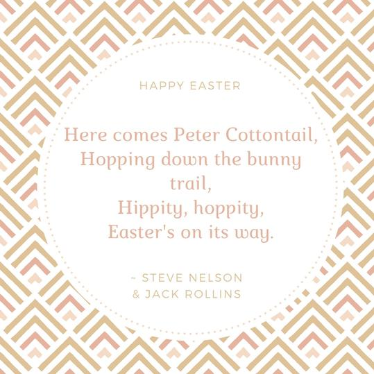 Steve Nelson & Jack Rollins Easter Quote