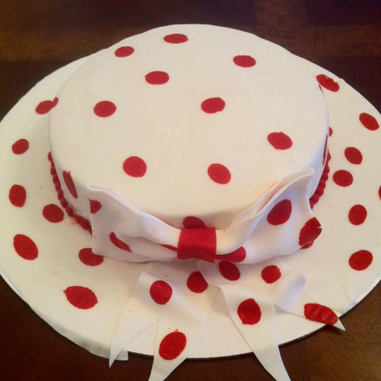 Polka Dot Derby Hat Cake
