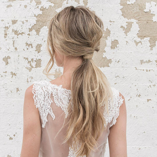 Textured Ponytail with a Twist
