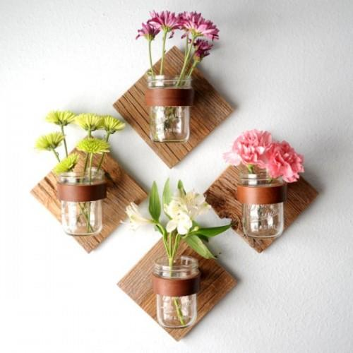 Rustic Mason Jar Sconces