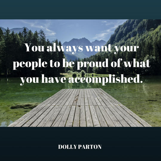 Dolly on Making Her People Proud