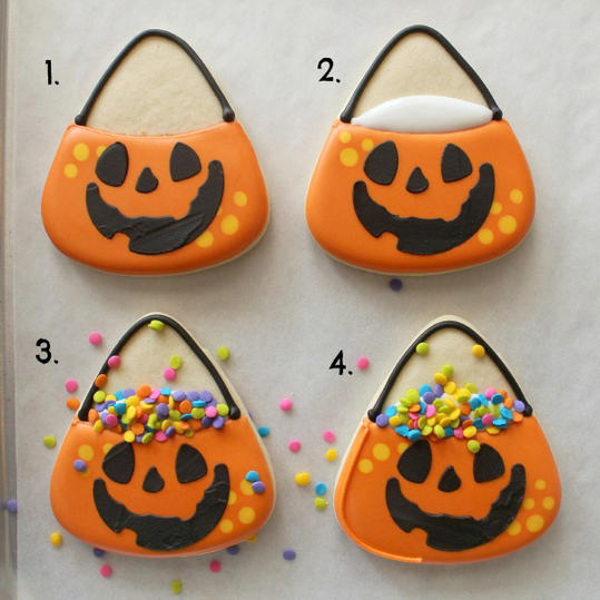 halloween candy bucket cookies - Halloween Cookies Decorating Ideas
