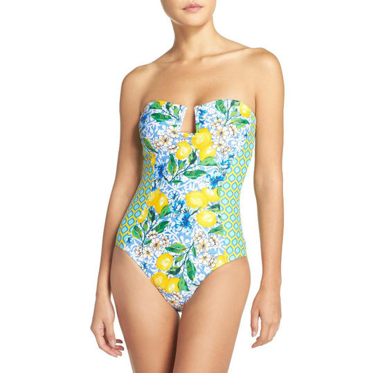 La Blanca Women's Limoncello Bandeau One Piece Swimsuit