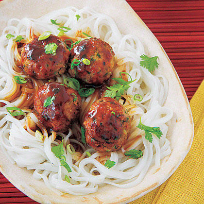 Hoisin-Plum Asian Turkey Meatballs