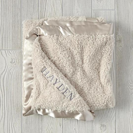 Cuddle Me Softly Baby Blanket in Stone