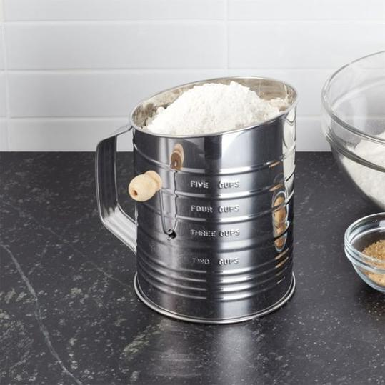 Flour Sifter with Hand Crank